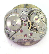 Antique Tschuy Freres 17j Swiss Watch Movement Missing Crown #P333