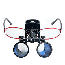 Dental Binocular Medical Surgical 3.5X Glasses Loupes Magnifier Clip Mobile IT