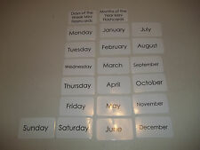 21 Miniature Laminated Days of the Week and Months of the Year Flashcards. 3.5x2