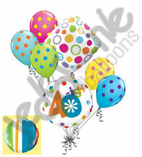 7 pc 40-ish Happy Birthday Balloon Bouquet 40th Fourty Party Decoration Young