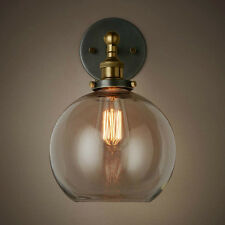 Vintage Bronze Swing Indoor Glass Lampshade Sconce Hallway Light Wall Fixtures