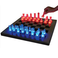 LED Chess Set Light-Up Chess Pieces LED Chess Board Blue/Red Glow Chess Set