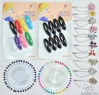 Pearl Hijab Scarf Pins Safety Pin Multicolor Black Wheel Tailor Sewing Snag-Free