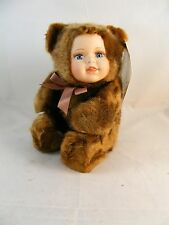 Ashley Belle Collectibles Baby Teddy Bear Porcelain Doll MS506 Born 01/01/2000