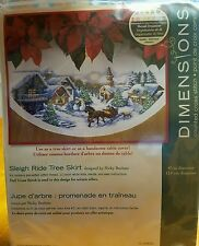 Dimensions Counted Cross Stitch Kit Sleigh Ride Tree Skirt