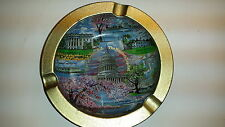 Vintage Metal Washington DC  Souvenir Cigarette Ashtray