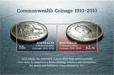 Australia 2010 Commonwealth Coinage MS MNH, embossed, odd, unusual, coin on stam