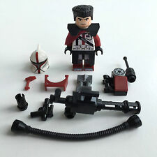 LEGO star wars custom clone soldat capitaine Fordow + Custom Equipment & MINI GUN