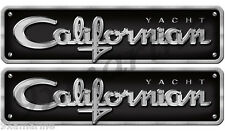 Two Californian Decal Chrome Style Replica In Vinyl