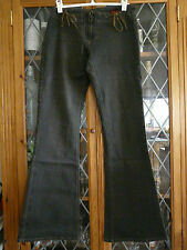 River Island Azul Oscuro Marrón Lowrise Jeans UK8 ** ** GC