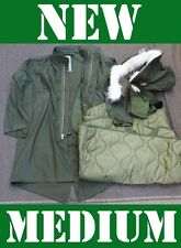 NEW MEDIUM US MILITARY FISHTAIL PARKA JACKET ARMY M65 EXTREME COLD GENUINE NOS