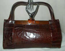 The best crocodile and lucite huge vintage Raine handbag