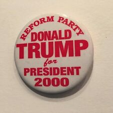 EXTREMELY RARE: Donald Trump for President 2000 Pin