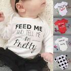 Newborn Kids Baby Infant Boy Girls Bodysuit Romper Jumpsuit Outfit Clothes 0-18M