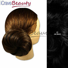 Draw String Hair Piece - Deconstructed Chic Swirl Style Hair Bun - All Colours