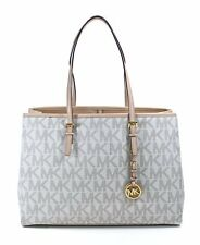 Bnew Auth Michael Kors Jet Set Logo Travel Tote Vanilla #COD PAYPAL LUV17