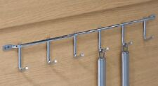 Row Of Hooks Built For Kitchens & Other House Hold Rooms 6 Hooks Polished Chrome