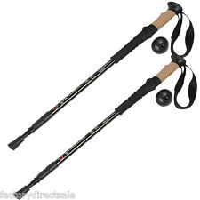 New Pair 2 Trekking Walking Hiking Sticks Poles Alpenstock Adjustable Anti-