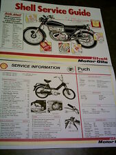 Puch Maxi Moped - Shell Service Sheet