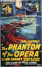 The Phantom of the Opera - Lon Chaney Sr - A4 Laminated Mini Poster