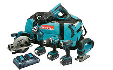 MAKITA dlx6017pm 18V 6 PEZZI Li-ion Cordless Power Tool Kit 3 x 4,0 Ah Nuovo