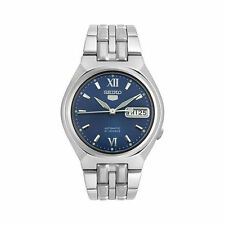 Seiko 5 Automatic Blue Dial Stainless Steel Mens Watch SNK319