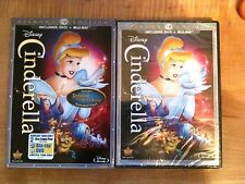 Cinderella :Disney (DVD/Blu-ray 2012,2-Disc,Diamond Edition) New+ I Ship Faster