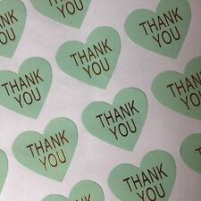 X60 Heart Thank you Label Seal Stickers - Craft, Weddings, Homemade - Thankyou