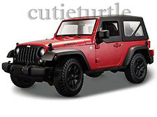Maisto 2014 Jeep Wrangler Willys Edition 1:18 Diecast Model Car Red 31676