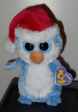 "Ty Beanie Boos ~ FAIRBANKS the 6"" Blue Penguin ~ MINT with MINT TAGS ~RARE"