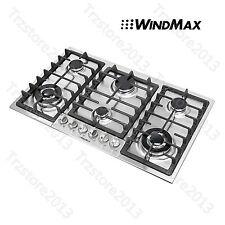 """WindMax 34"""" Stainless Steel 6 Burner Built-In Stove LPG Cooktop Cooker-US Seller"""