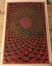 Vintage Black Light Poster The Inner Eye East Totem West Satty Psychedelic 1968