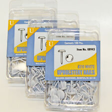 300 BullDog HardWare White #210 Upholstery Nails Tacks Studs 08943 NEW
