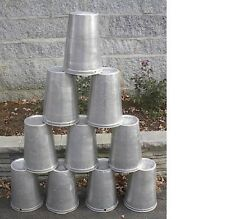 Lot of 20 Maple Syrup Aluminium Sap Buckets READY TO USE TO GATHER SAP!!