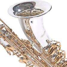 Karl Glaser Bariton Saxophon versilbert mit Koffer + Mundstück, Messing Klappen