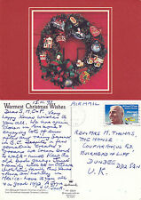 1991 CHRISTMAS GREETINGS POSTED IN ARIZONA UNITED STATES COLOUR POSTCARD