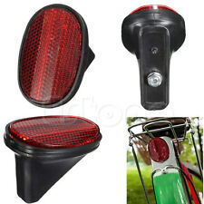 Red Bike Bicycle Cycle Classic Tail Rear Mudguard Oval Warnning Reflector Safety