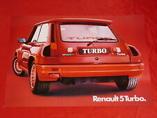 RENAULT 5 R5 Turbo Breitversion Prospektblatt von 1980