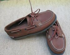 "CLARKS ACTIVE AIR ""30102 FALCON"" mens 8M tan brown leather boat shoes"