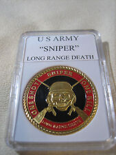 "U S ARMY SNIPER ""LONG RANGE DEATH"" Challenge Coin"