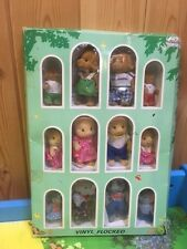 SYLVANIAN FAMILIES  FOREST FAMILIES 3 COMPLETE FAMILIES BOXED PIG ELEPHANT DOG