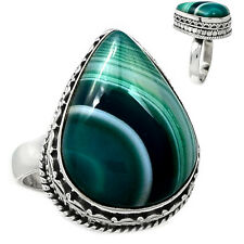 Botswana Agate 925 Sterling Silver Ring Jewelry s.7.5 BSAR559