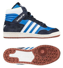 Mens Adidas Originals Pro Conference Blue Hi-Top Baseball Trainers Boots UK 8