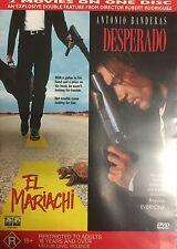 El Mariachi & Desperado Rodriquez Banderas 2-Films On 1-Disc Region 4 DVD VGC