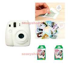 Fujifilm Fuji Instax Mini 8 Instant Polaroid Camera White + 20 Film Photo shot