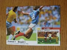 21/06/1986 World Cup Postcard: Quarter-Final - France v Brazil (stamped/franked