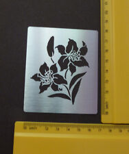 Stainless/steel/stencil / oblong/flower/floral / lily/emboss /