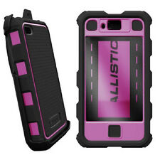 Ballistic HC Hard Shell Case w/Holster Belt Clip for iPhone 4 4S Black/Pink NEW