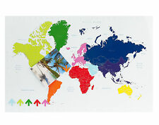 PT Multi Colour World Map Magnetic Memo Board