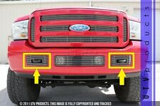GTG 2005 - 2007 FORD F250 F350 SUPER DUTY 2pc CHROME BUMPER ACCENT BILLET GRILLE